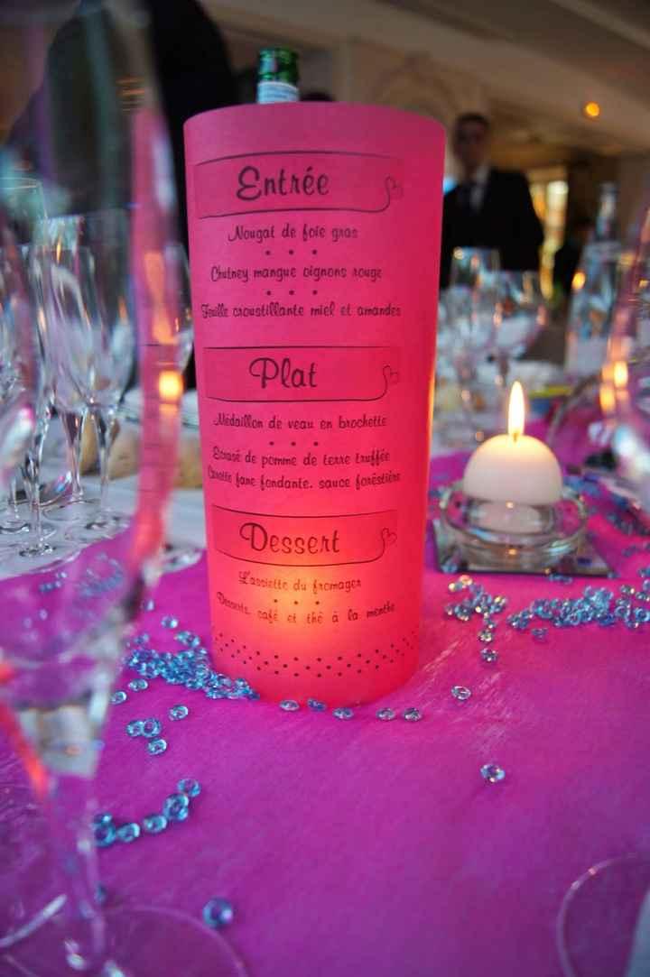 menu rose