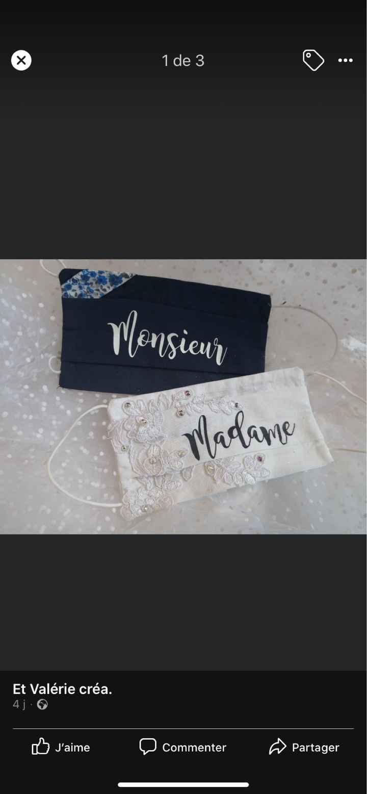 Masque personnalisable pour les mariés - 1