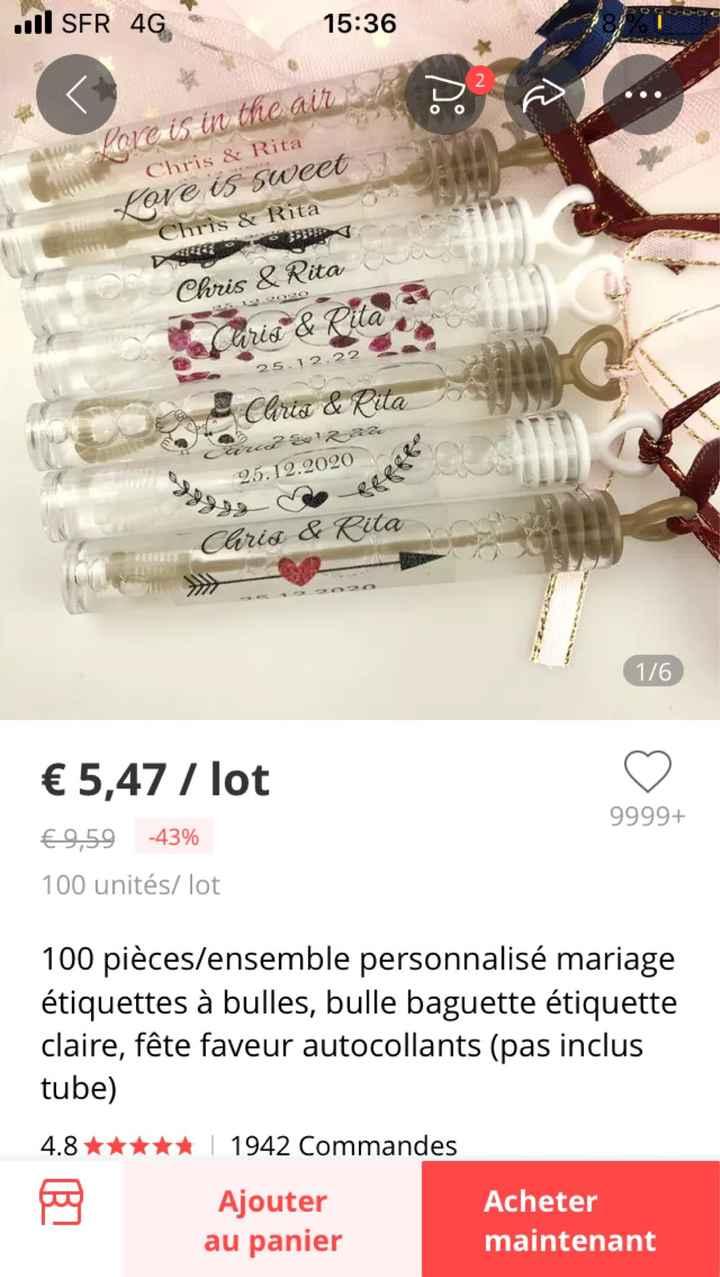 Étiquettes tubes à bulles - 1
