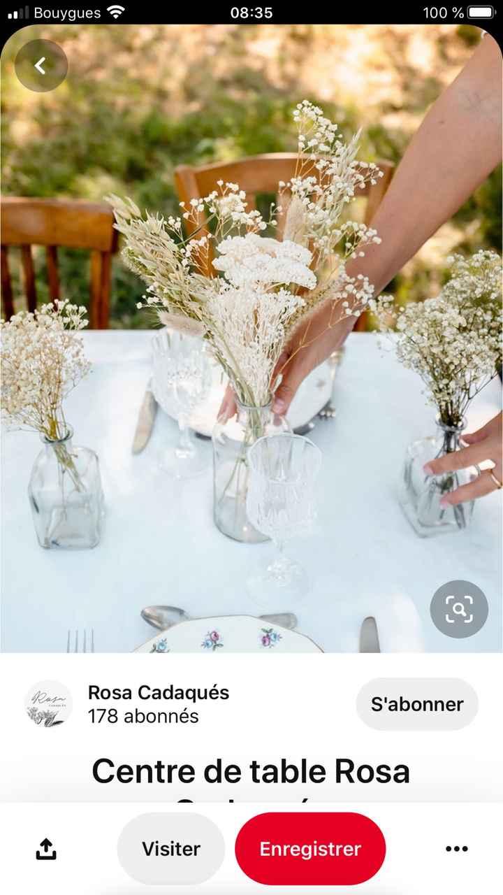 Fleurs séchées deco table - 1