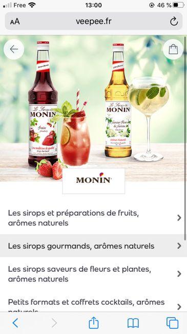 Vente privée sirop Monin - 1