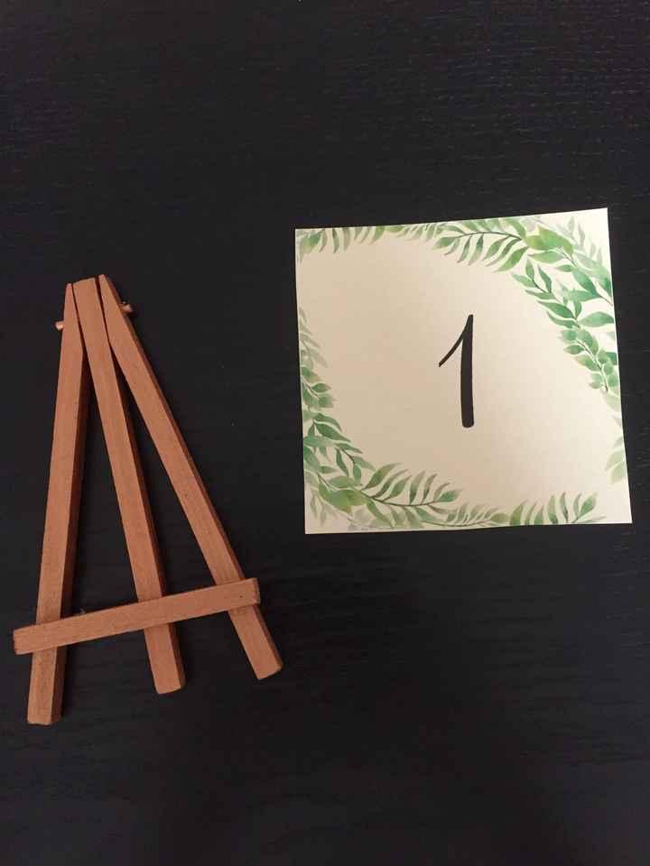 Numéros de table - 1