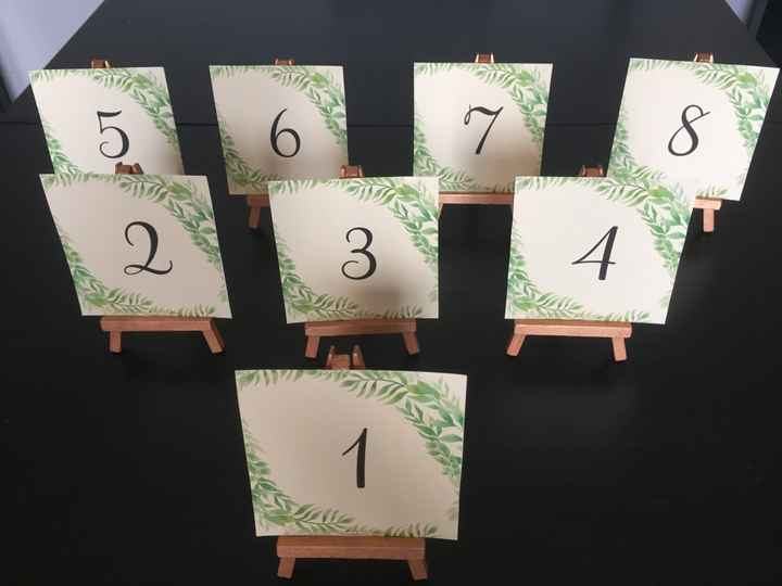 Numéros de table - 2