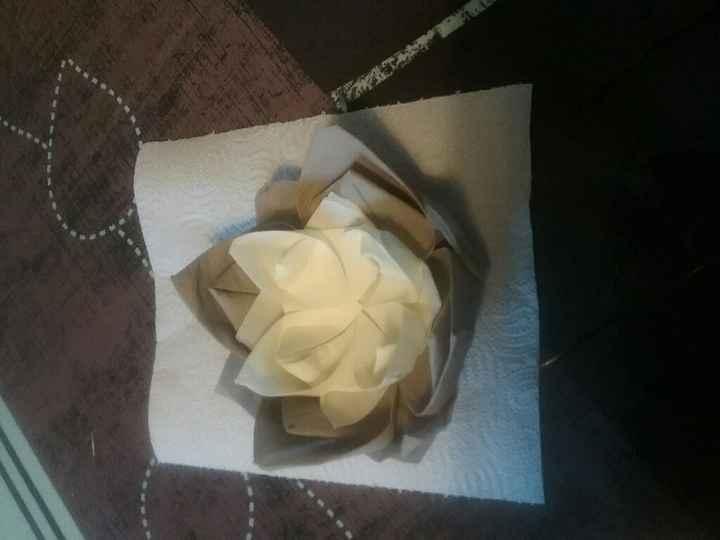 Fleur de lotus , pliage serviette en papier - 1