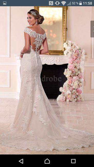 Modèle de dos Robe de mariée en turquie 1