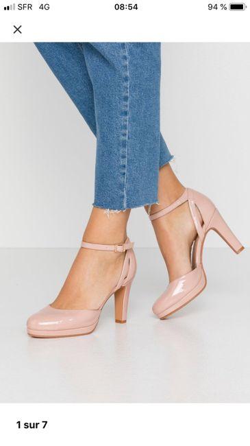 Chaussures mariée rose poudrée 9