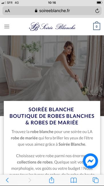 Avis site de robe Soirée blanche.fr 1
