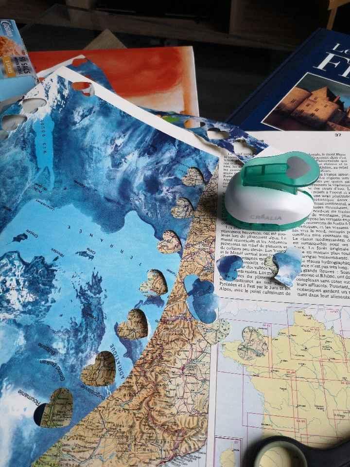 Cœur avec carte du monde - 1