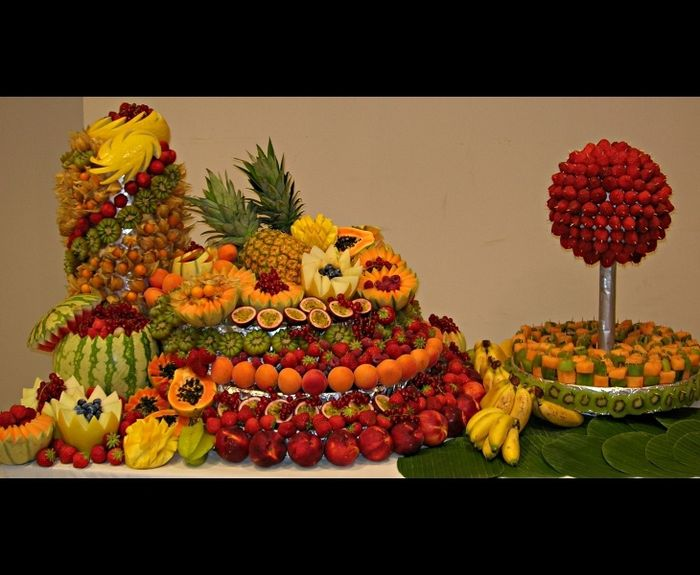Comment presenter les fruits sur le buffet banquets forum - Presentation de brochette de fruits ...