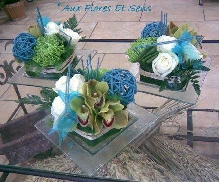 Les centres de table de la semaine 17 d coration forum - Centre de table bleu turquoise ...