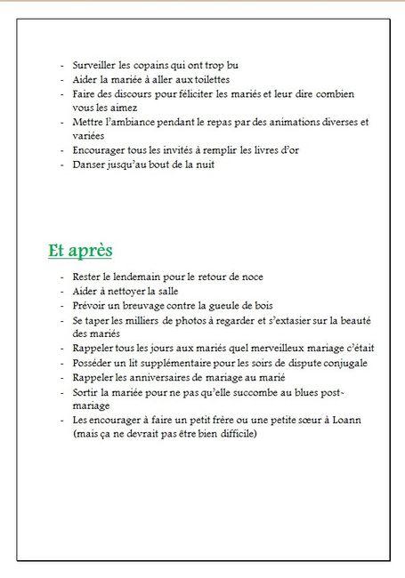 kit du parfait t moin page 5 avant le mariage forum. Black Bedroom Furniture Sets. Home Design Ideas