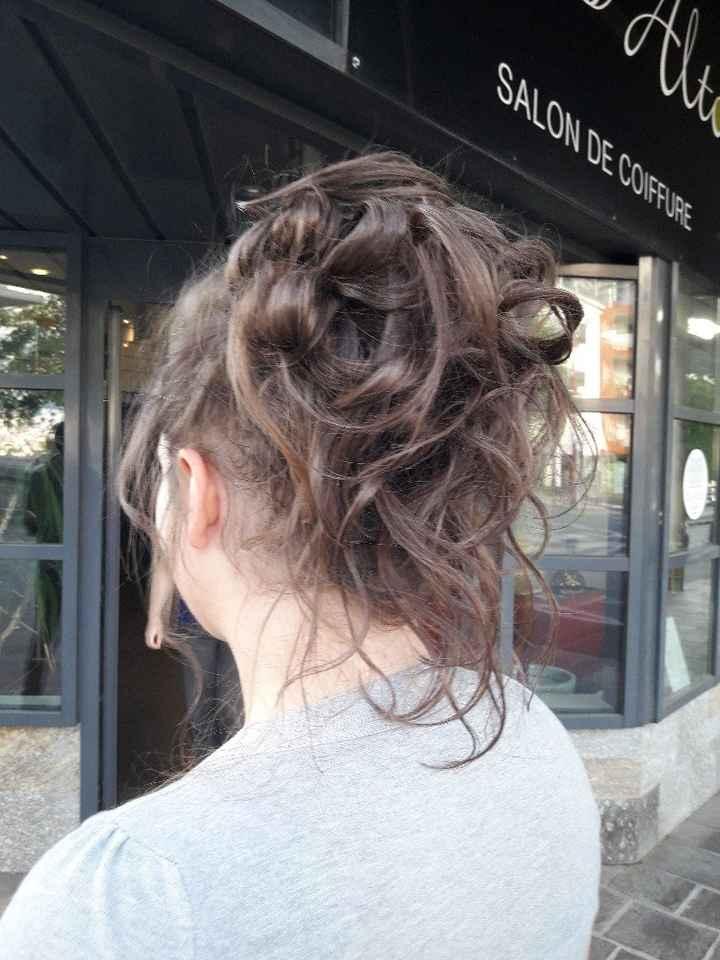 Le dernier essai coiffure avant le jour j ! - 3