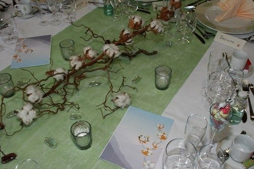 La fleur de coton un petit clin d il dans son mariage - 3 ans de mariage noce de quoi ...