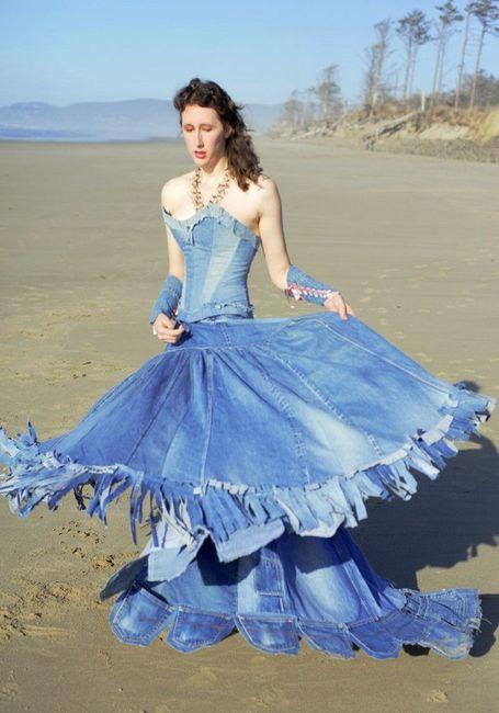 Robe de mariee en jean