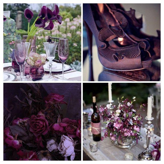 Les couleurs tendances pour un mariage en 2016 - Couleur violet aubergine ...