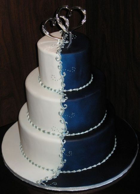 Gateau De Mariage Bleu Royal