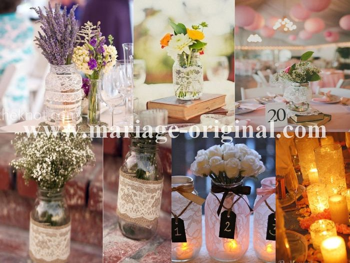 Bouteille de vin d coration forum - Garniture de table pour mariage ...