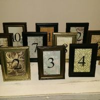 Diy : mes numéros de table vintage - 1