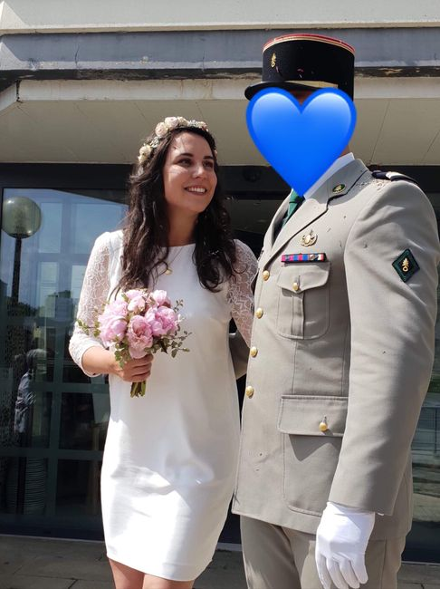 Robe courte mariage civil - 1