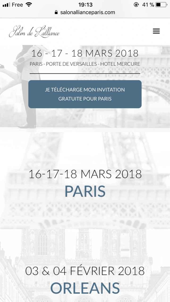 Salon de L'alliance - Paris 16/17/18 mars 2018 - 1