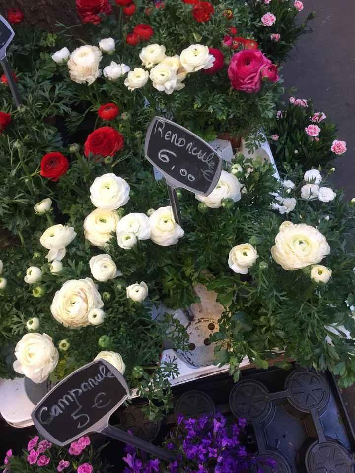 Inspiration fleurs blanches et bleues - 1