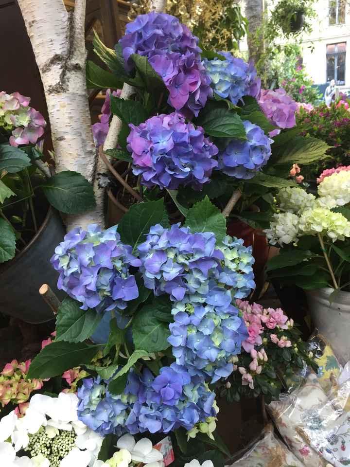 Inspiration fleurs blanches et bleues - 4