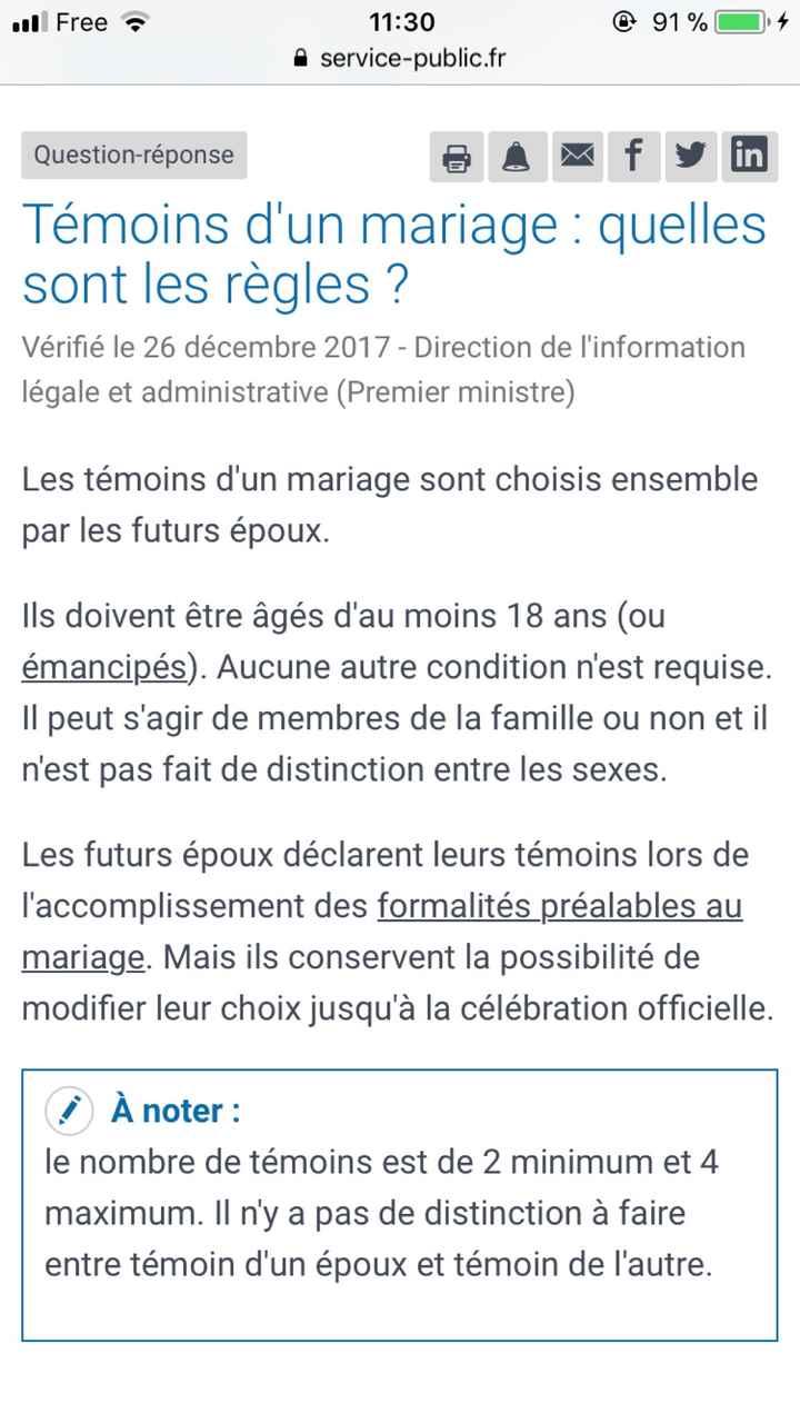 Temoin mariage - 1