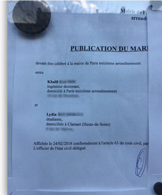 Bans publi s avant le mariage forum - Publication banc mariage ...