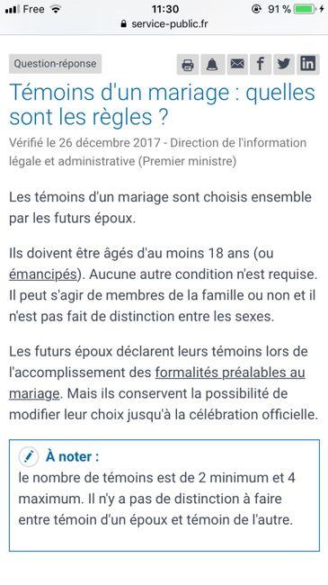 Dossier mairie - changement de temoin - 1