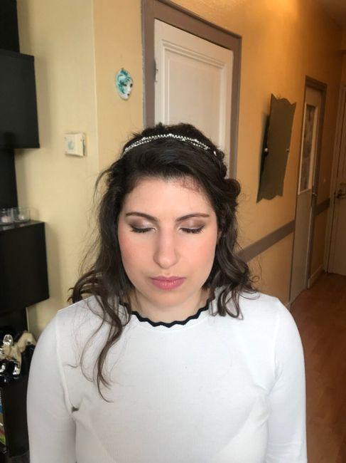 Essai coiffure et maquillage de chérie 😍 - 4