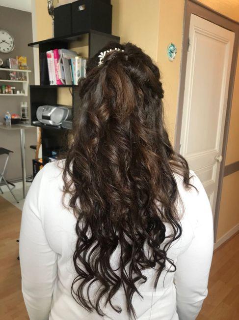 Essai coiffure et maquillage de chérie 😍 - 7