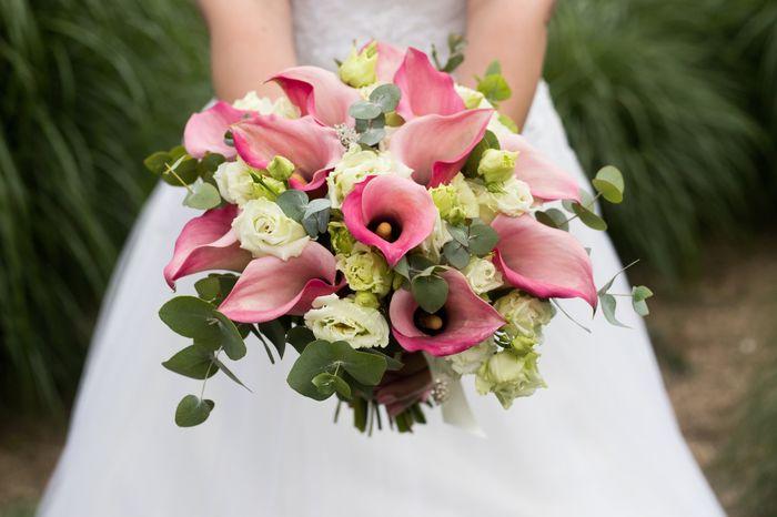 Bouquet de mariée avec des callas 8