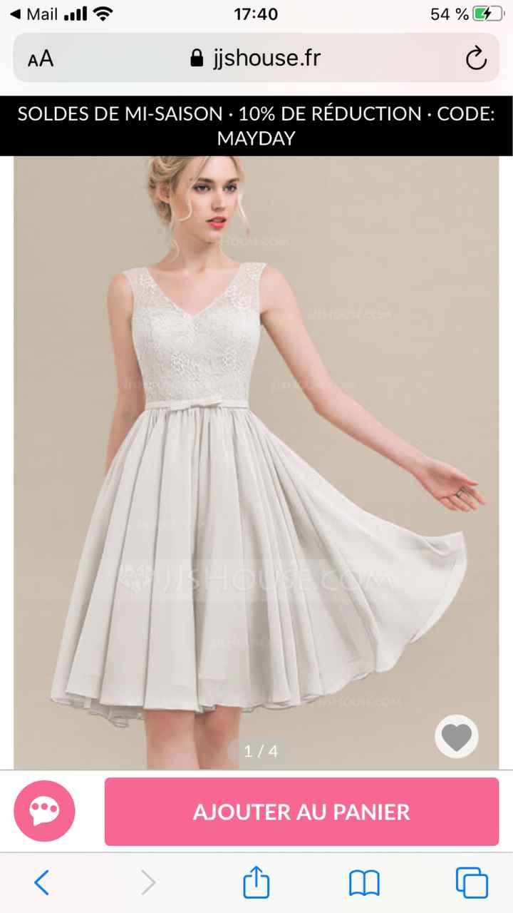 Petite robe pour terminer la journée du 4 juillet 💒 - 2