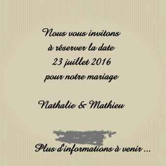 Save the date commande !!! - 2