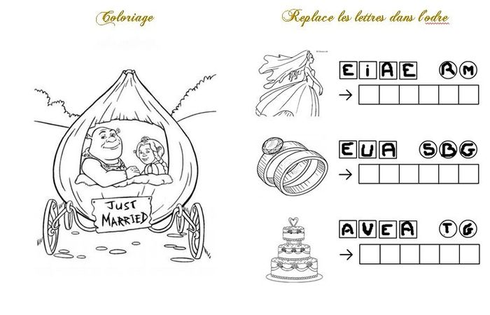 Notre livret de jeux et de coloriages pour les enfants organisation du mariage forum - Coloriage mariage a imprimer ...