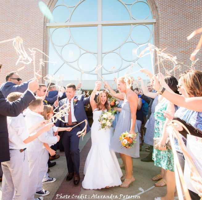Baguettes ruban sortie des mariés - 1