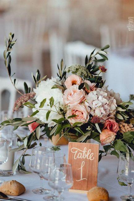 Numéro/Nom de table mariage 3