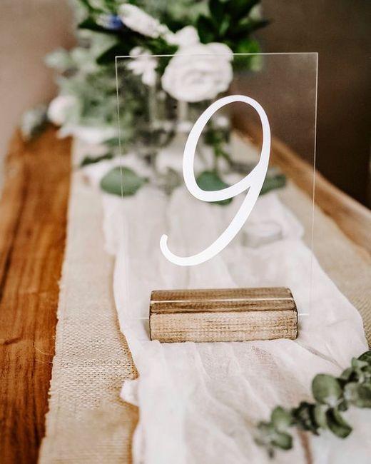Numéro de table mariage - 5