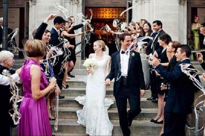 Baguettes ruban sortie des mariés - 2