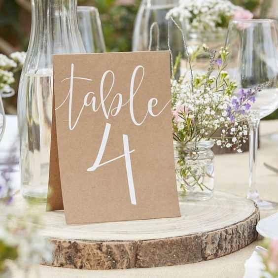 Numéro de table mariage - 1