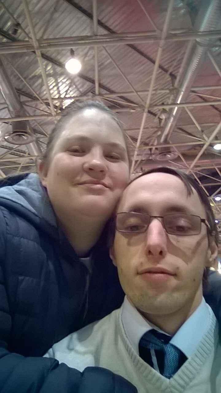 mon fiancé et moi à eurespo cette aprem