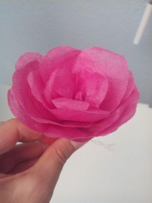 Diy Rose Papier Crépon Ou Papier De Soie Décoration Forum