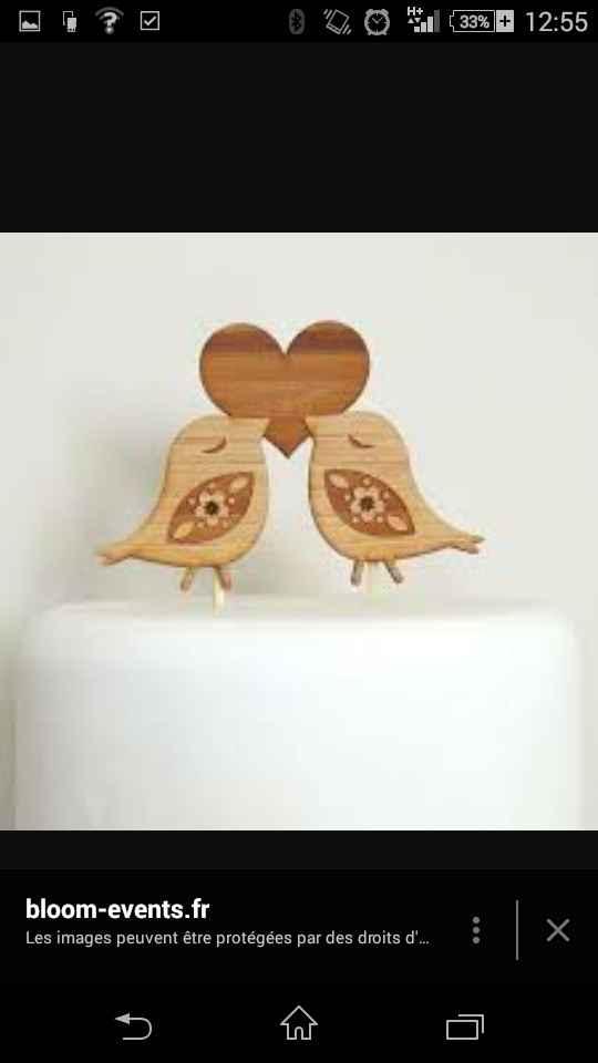 Alternative aux figurines de mariés pour le wedding cake - 1