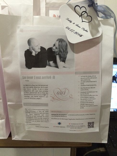 Mon diy du moment : mes welcome bag :) - 3