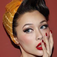 maquillage annee 50