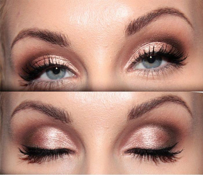 10 maquillages pour les yeux bleus beaut forum - Maquillage bleu yeux marrons ...