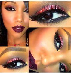 propuestas de maquillaje para ojos negros