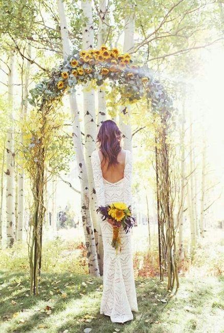arche avec fleur