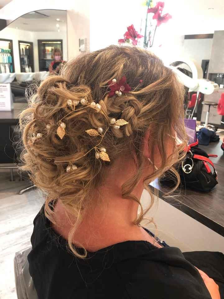 Essai coiffure à 22 j du mariage - 1