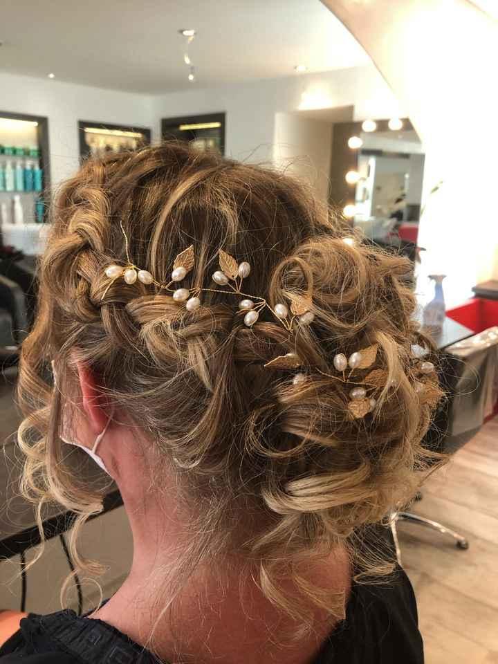 Essai coiffure à 22 j du mariage - 2